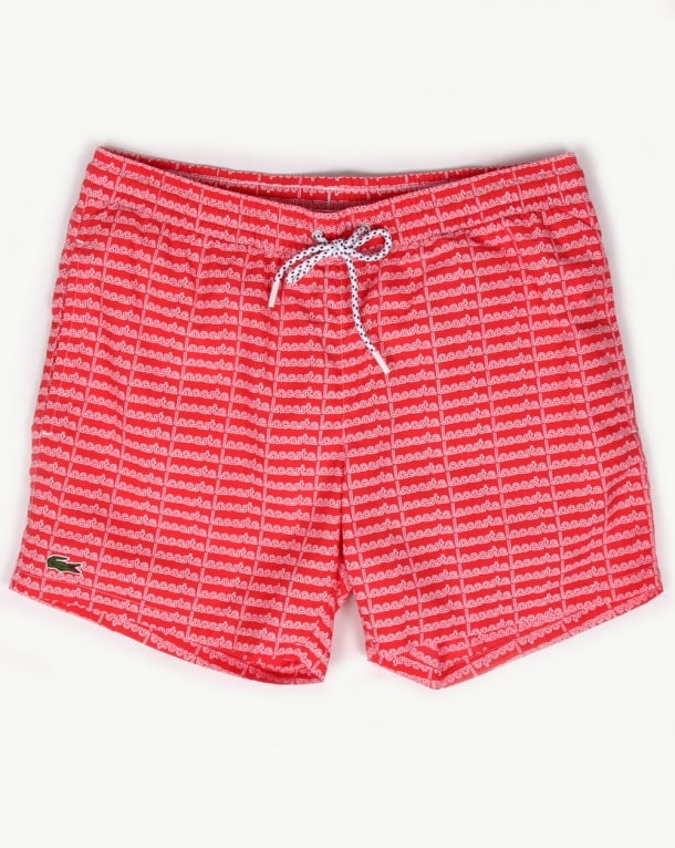 Lacoste Linear Logo Swim Shorts Grenadine