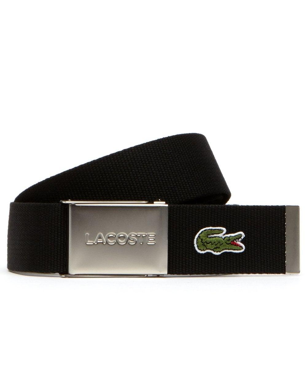 0c4e71c0c525e6 Lacoste Lacoste Logo Belt Black