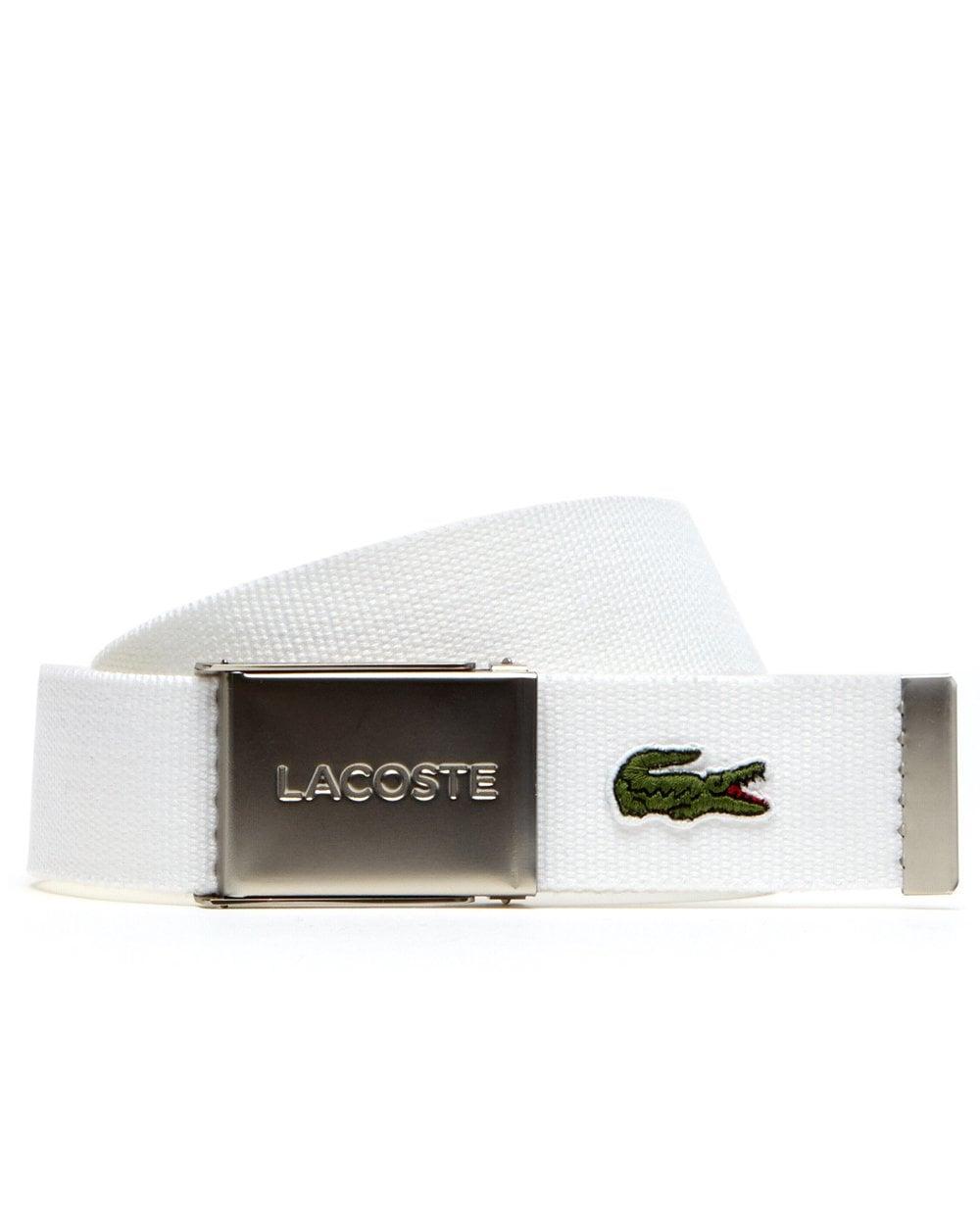 127844f51c65e4 Lacoste Lacoste Logo Belt White