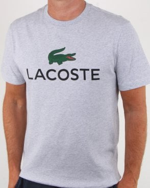 Lacoste Logo T-shirt Silver Chine