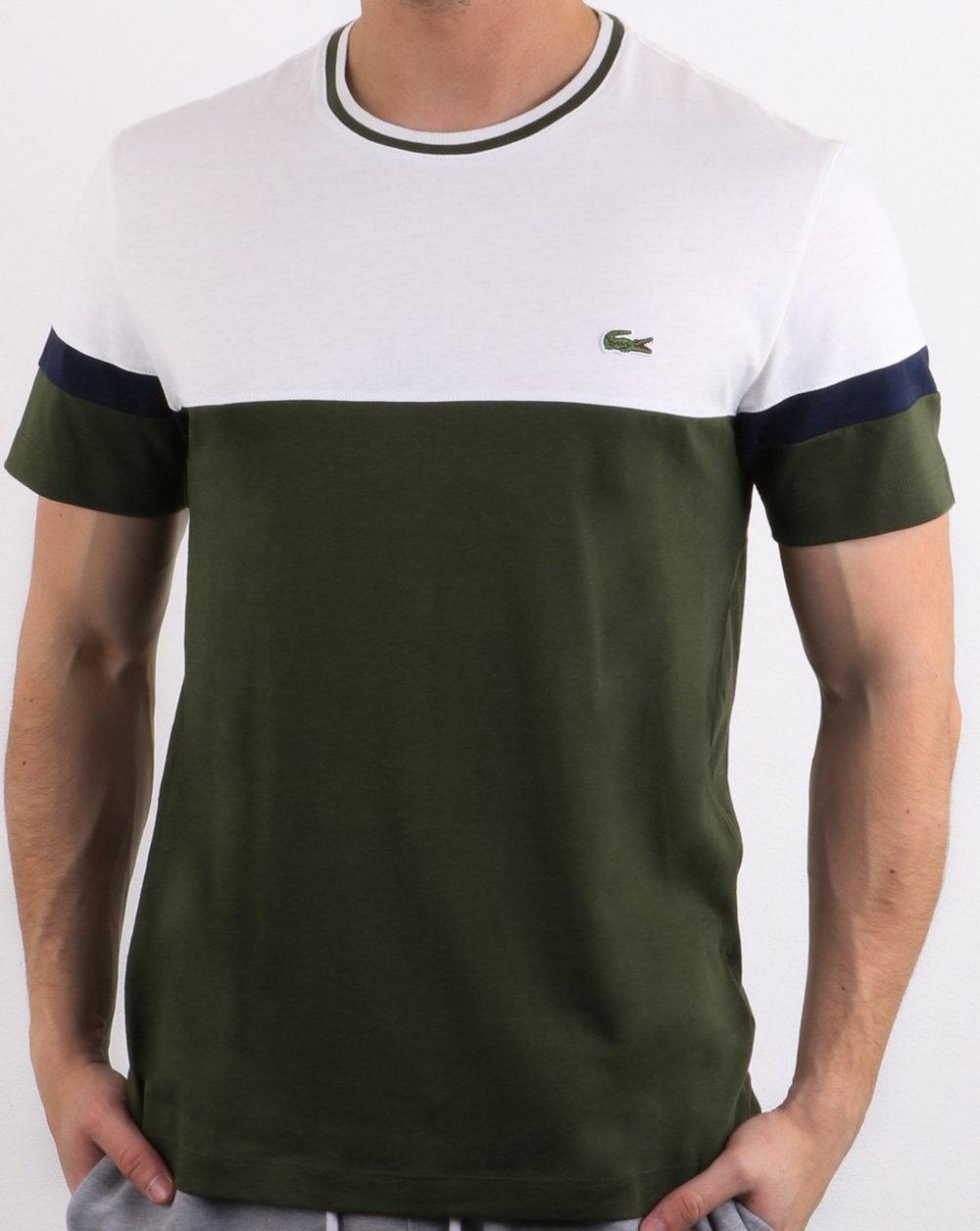 8e0d4d7c Lacoste Logo T-shirt White & Olive