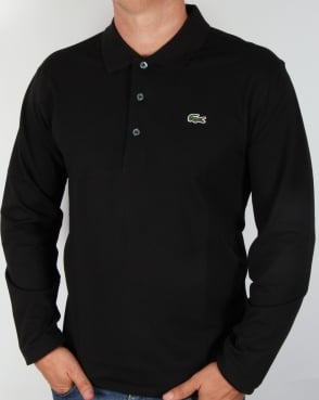 Lacoste Long Sleeve Polo Black