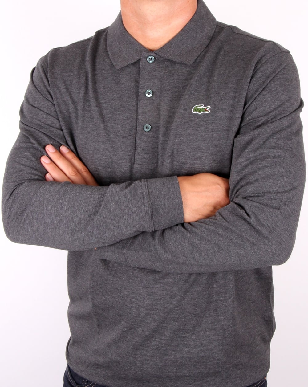d121f947 Lacoste Long Sleeve Polo Dark Grey