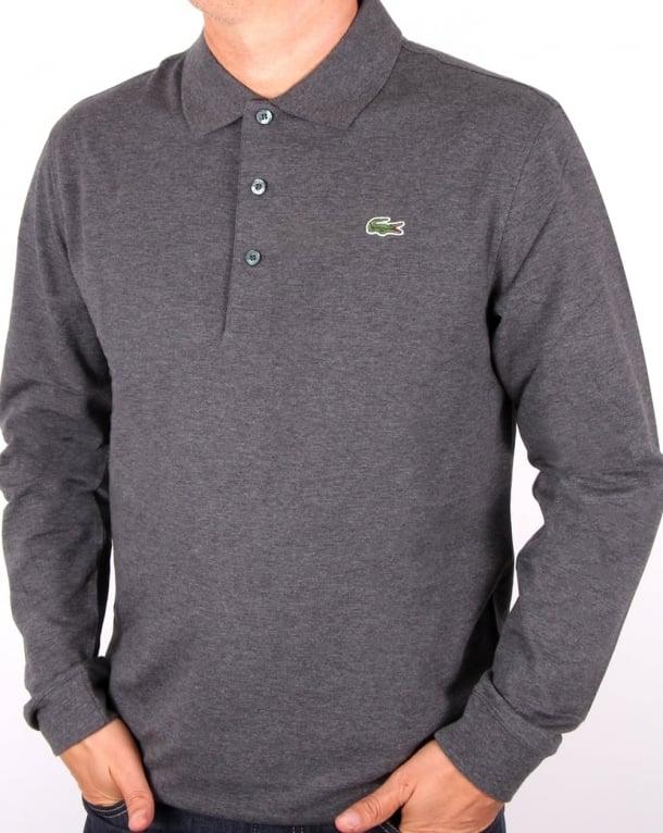 75d2ea77 ... where can i buy lacoste long sleeve polo dark grey 17db6 517b3