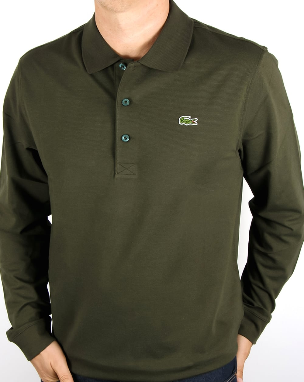 be4379159 Lacoste Lacoste Long Sleeve Polo Khaki Green