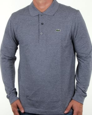 Lacoste Long Sleeve Polo Mouline Navy