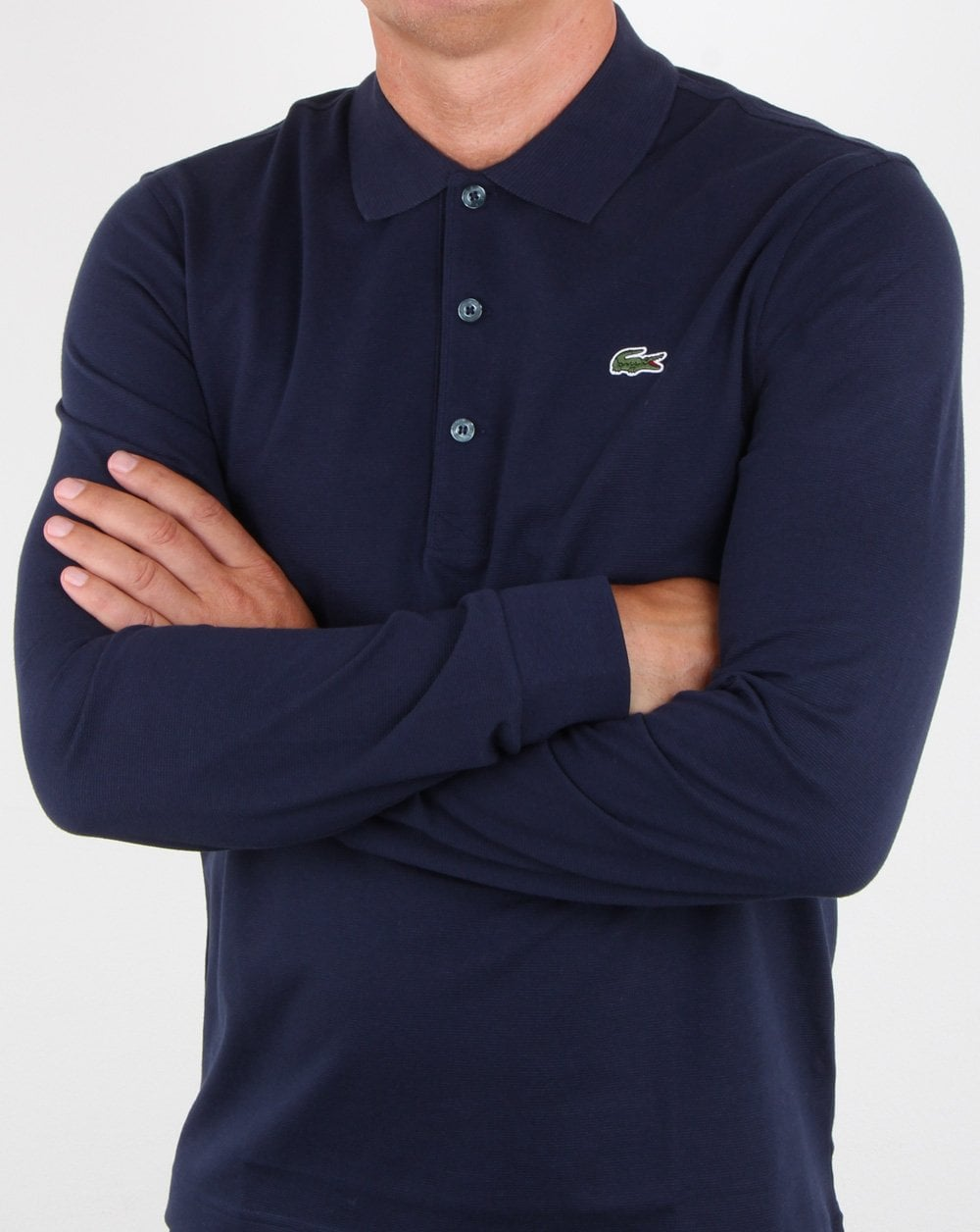 Long Long Navy Lacoste Polo Sleeve Navy Polo Lacoste Sleeve PkOZTXiu