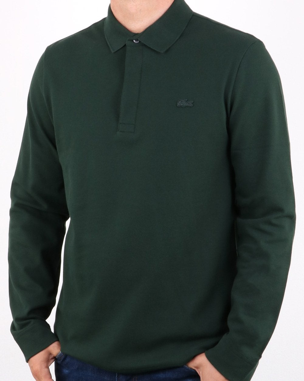 a8390c190d0cbd ... closeout lacoste lacoste long sleeve polo shirt dark green 5b183 354cc