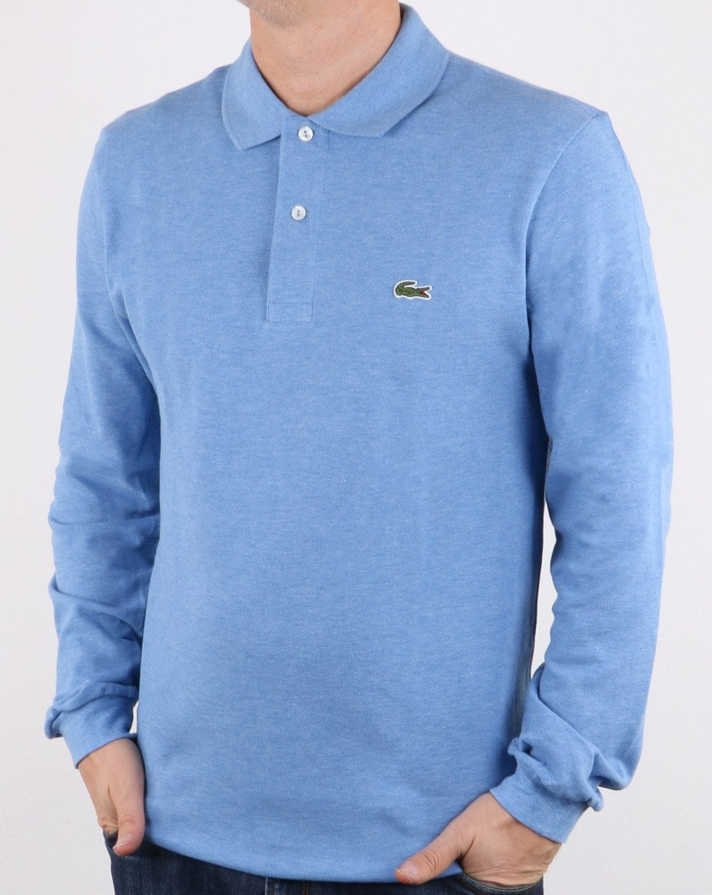 f3f6b03597 Lacoste Long Sleeve Polo Shirt Light Blue