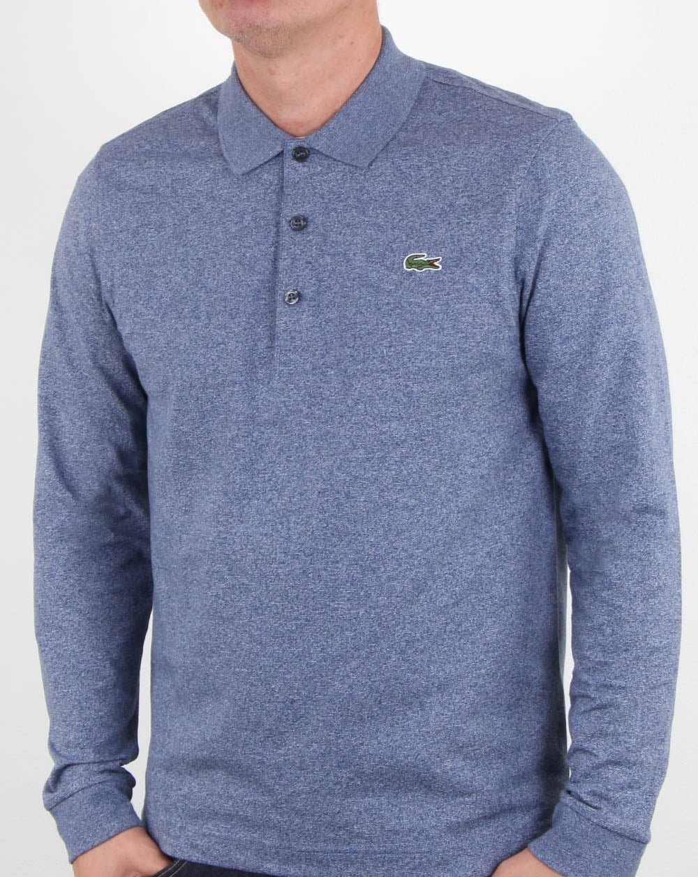 2a607ffb Lacoste Long Sleeve Polo Shirt Merino Jaspe