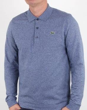 Lacoste Long Sleeve Polo Shirt Merino Jaspe