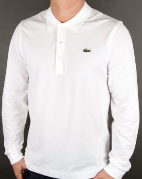 Lacoste Long Sleeve Polo White