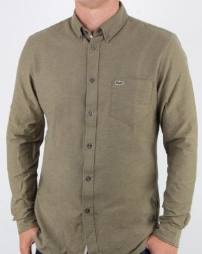 Lacoste Long Sleeve Shirt Baobab Green