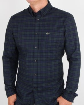 Lacoste Long Sleeve Shirt Sinople Green/meridian Blue
