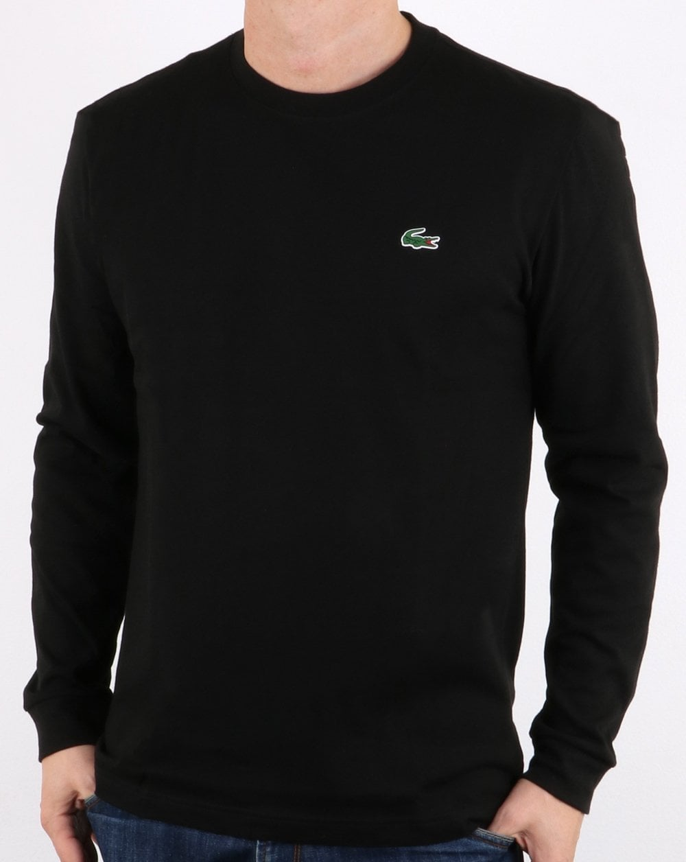 b0acc0a55b Lacoste Long Sleeve T-Shirt Black