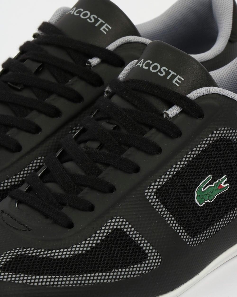 8e7079a7d Lacoste Misano Evo Trainers Black Grey