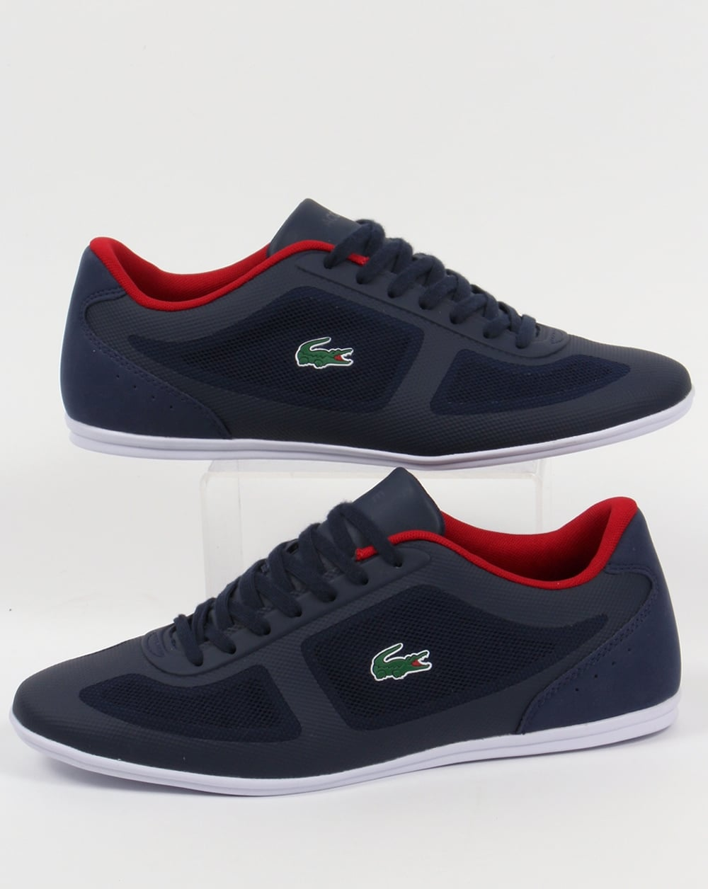 1afdef62a Lacoste Lacoste Misano Evo Trainers Navy Red