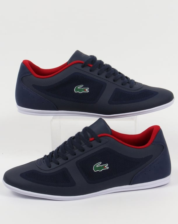 Lacoste Misano Evo Trainers Navy/Red