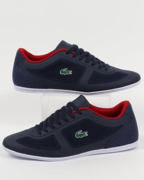 Lacoste Footwear Lacoste Misano Evo Trainers Navy/Red