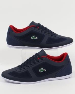 Lacoste Footwear Lacoste Misano Evo Trainers Navy/Red