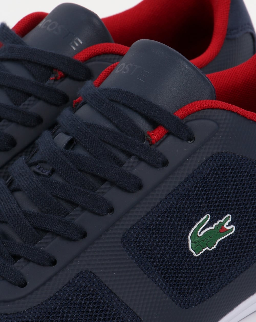 648f47b1d Lacoste Misano Evo Trainers Navy Red