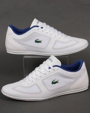 Lacoste Footwear Lacoste Misano Evo Trainers White/Blue