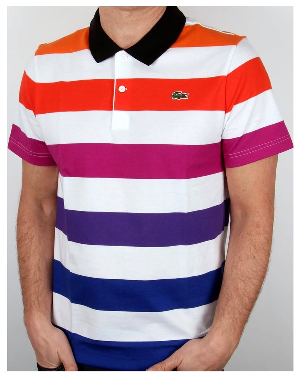 8c11cfbd9c9b0 Lacoste Lacoste Multi Stripe Polo Shirt White mixed