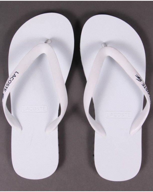 Lacoste Nosara Flip Flops White