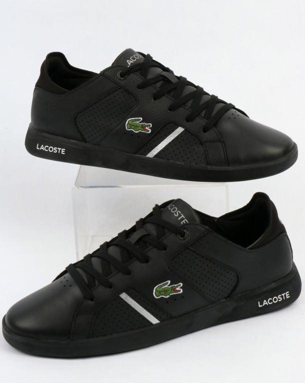 Lacoste Novas Trainers Black/Silver