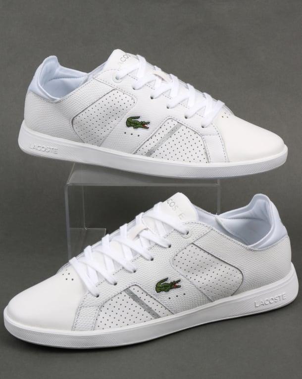 Lacoste Novas Trainers White/Silver