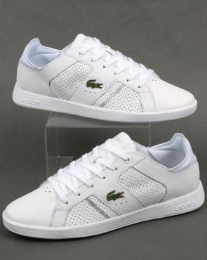 Lacoste Footwear Lacoste Novas Trainers White/Silver