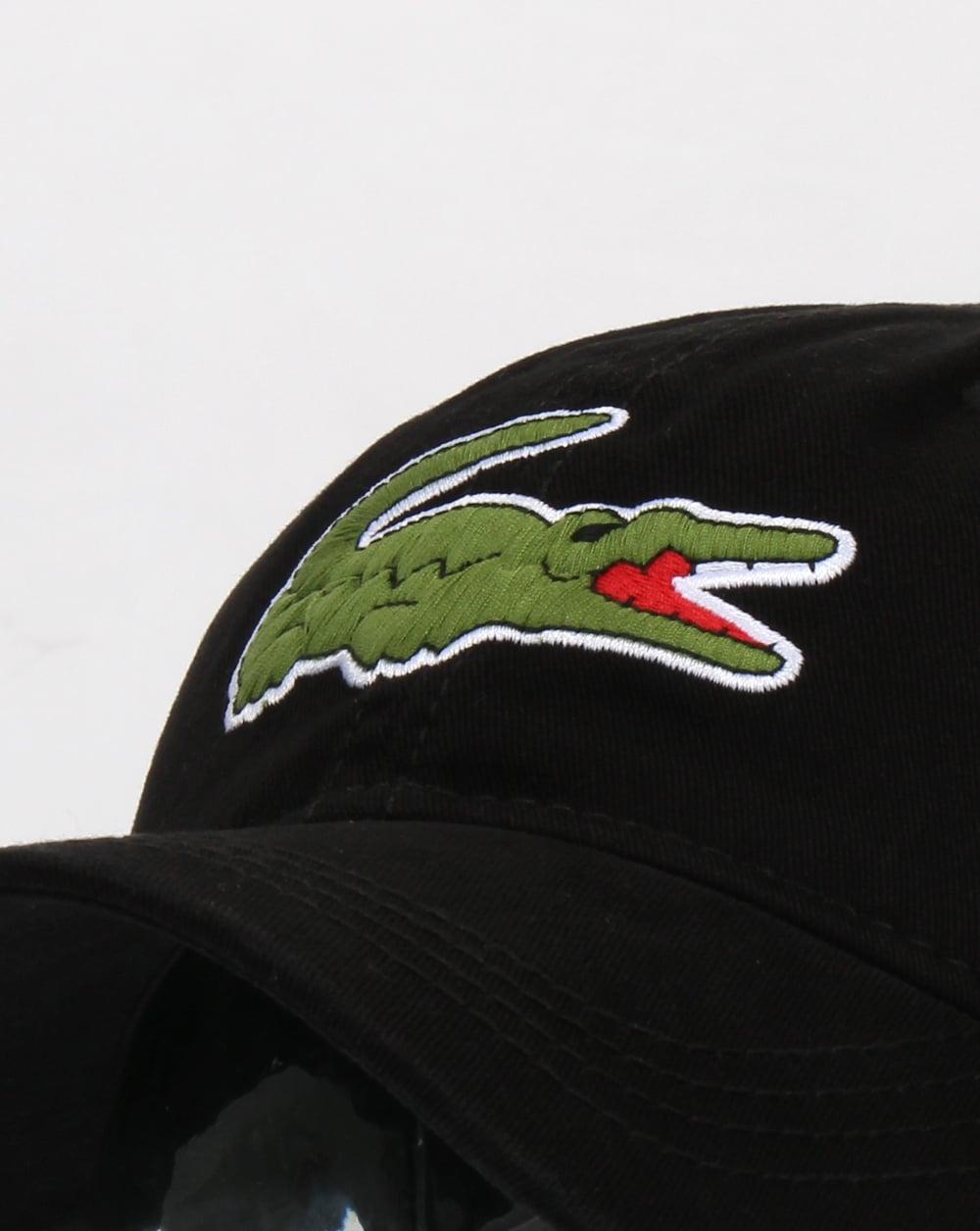 e2638faa Lacoste Oversized Croc Cap Black