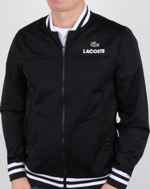 Lacoste Pique Poly Track Top Black/white