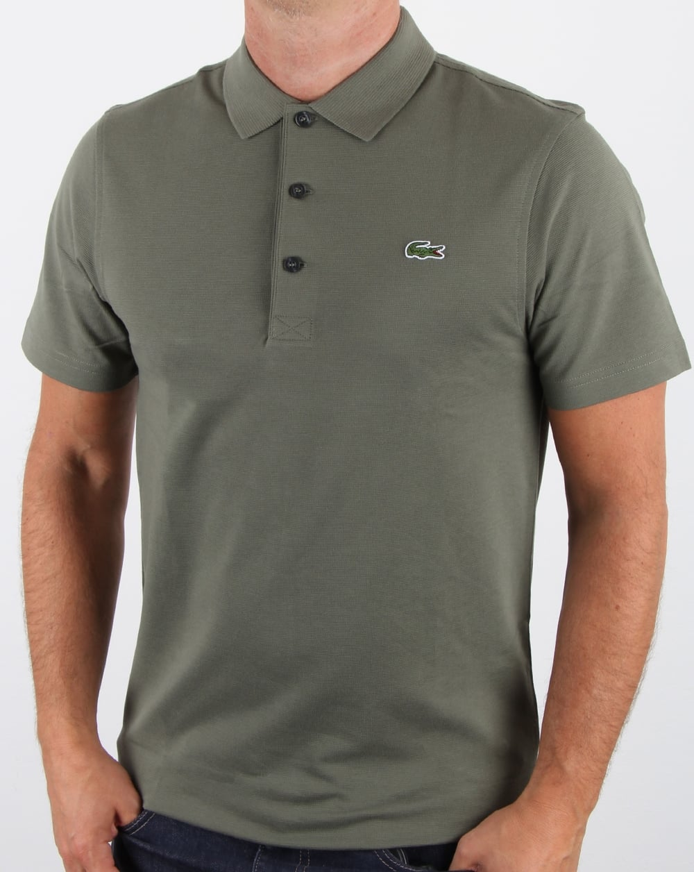 53e1885ef8 Lacoste Ultra-lightweight Knit Polo Shirt Army,men,cotton,top