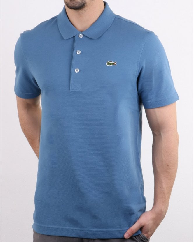 65b2fa8ba6fe9 Lacoste Lightweight Knit Polo Shirt in Blue