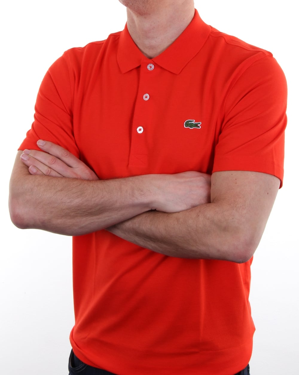 bc5e06afc9696 Lacoste Ultra-lightweight Knit Polo Shirt Etna Red