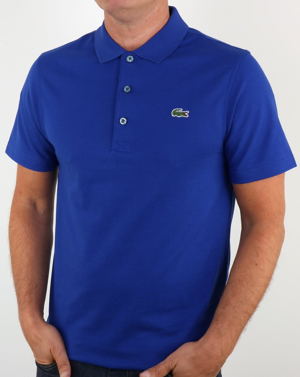 lacoste polo shirt french blue men 39 s pique cotton
