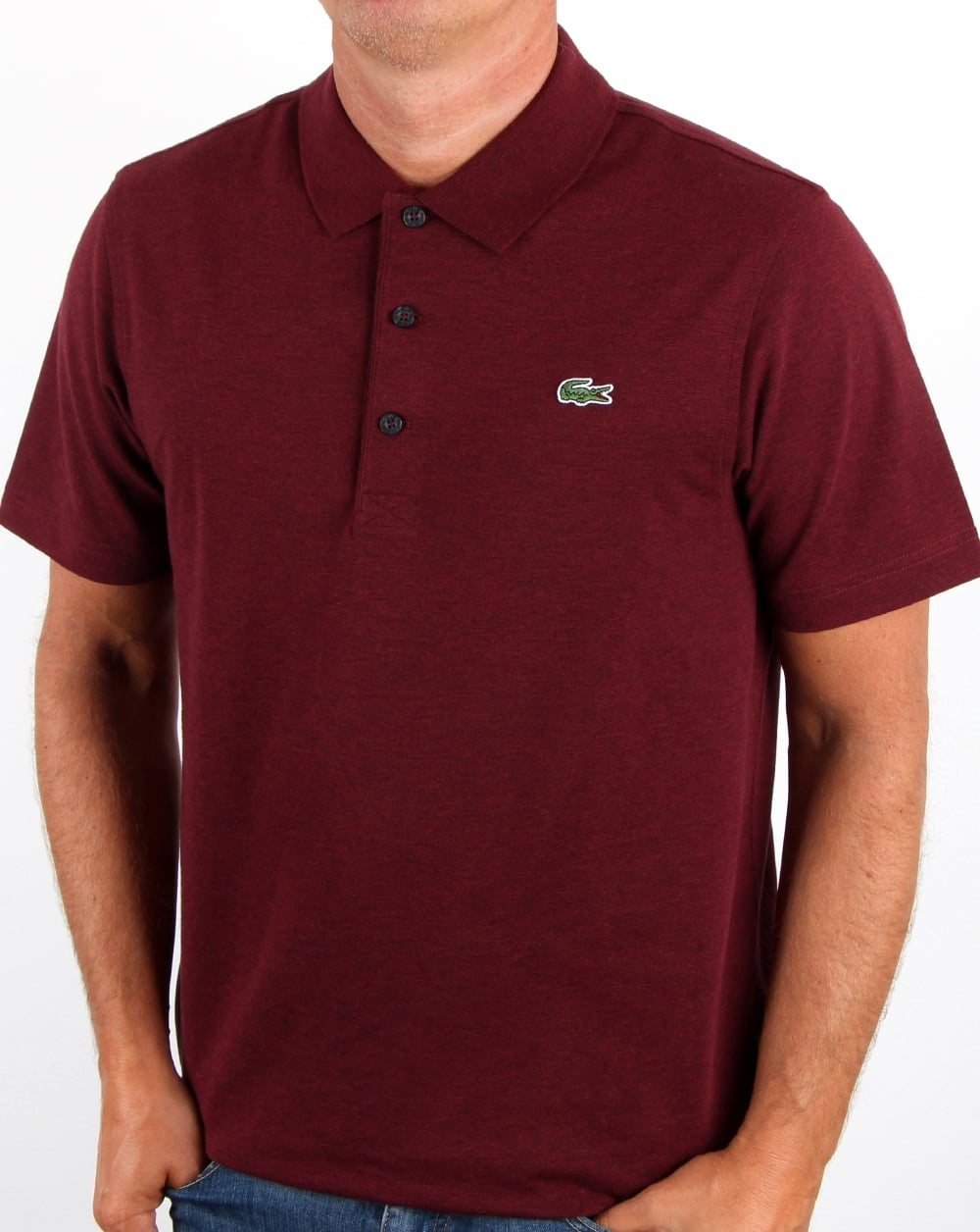 Lacoste ultra lightweight knit polo shirt grape vine chine men 39 s - Lacoste poloshirt weiay ...