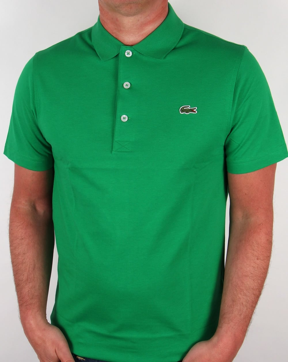 Lacoste polo shirt green field fresh short sleeve sport for Order company polo shirts