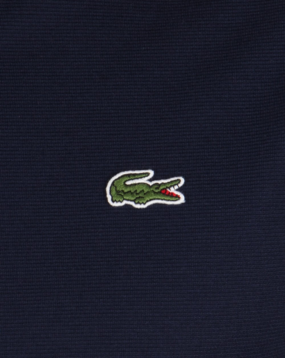 Lacoste Polo Shirt Navy Short Sleeve Old Skool Retro