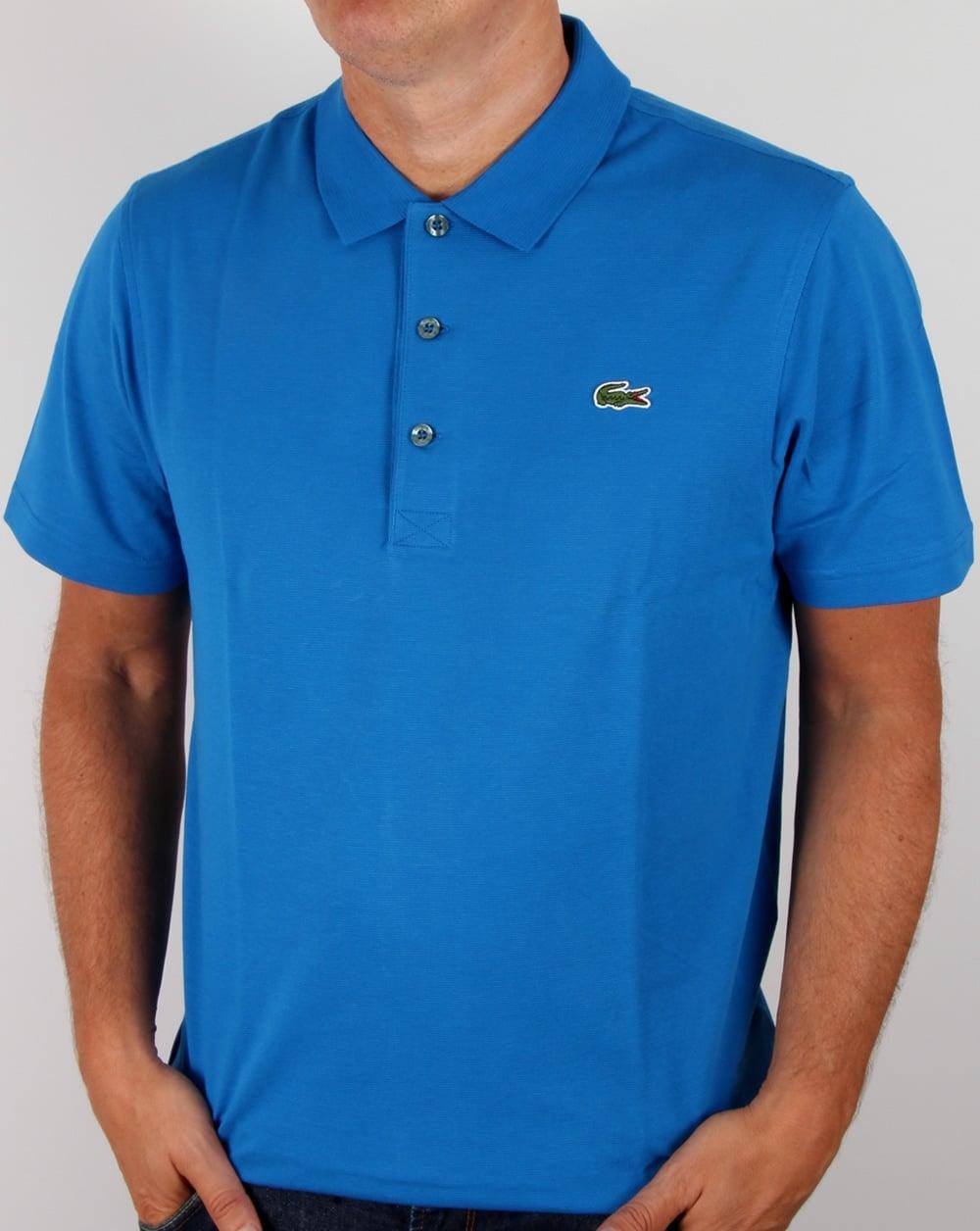 Lacoste Polo Shirt Ink Blue sport mens vintage old skool f5c0d6ce9cf