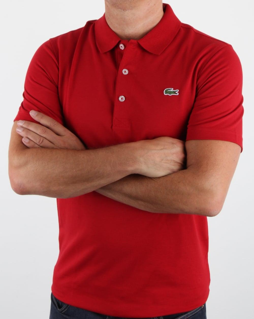 3eaf7bb2f8f23 Lacoste Ultra-lightweight Knit Polo Shirt Ladybird