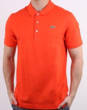1e6c4cb55f852 Lacoste Polo Shirt Orange