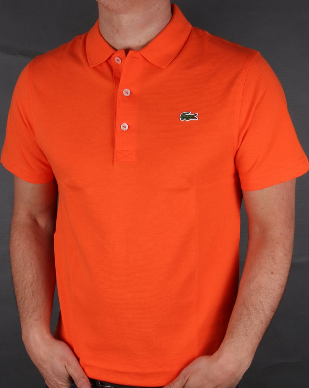 lacoste polo shirt orange fresh short sleeve sport. Black Bedroom Furniture Sets. Home Design Ideas
