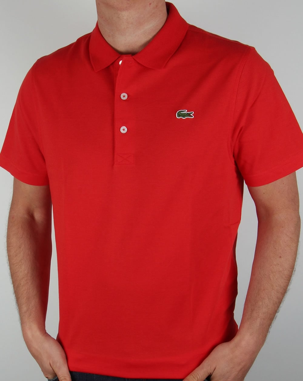 lacoste red polo shirt sport mens vintage old skool. Black Bedroom Furniture Sets. Home Design Ideas