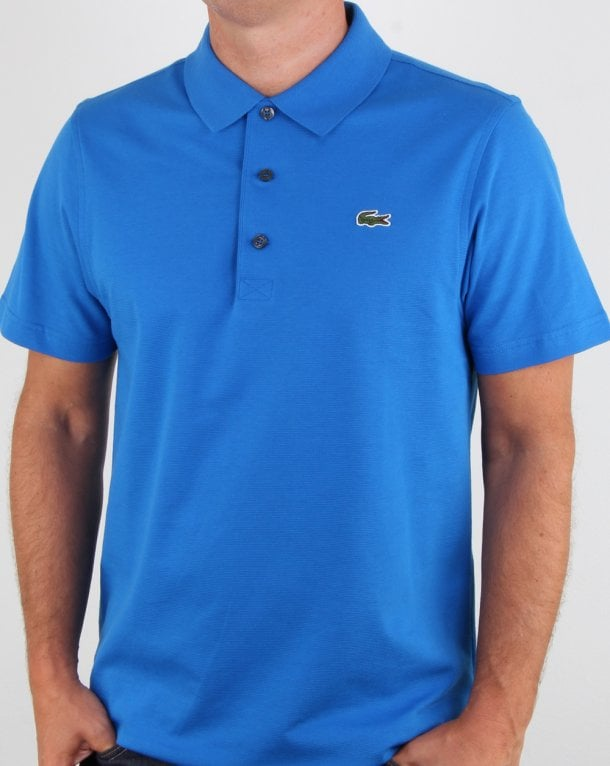 6583b5c56b044 Lacoste Ultra-lightweight Knit Polo Shirt Royal Blue