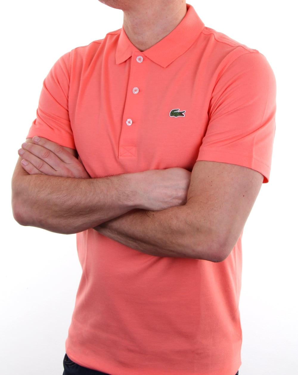 Mens Pink Lacoste Polo Shirt bee27c8c48