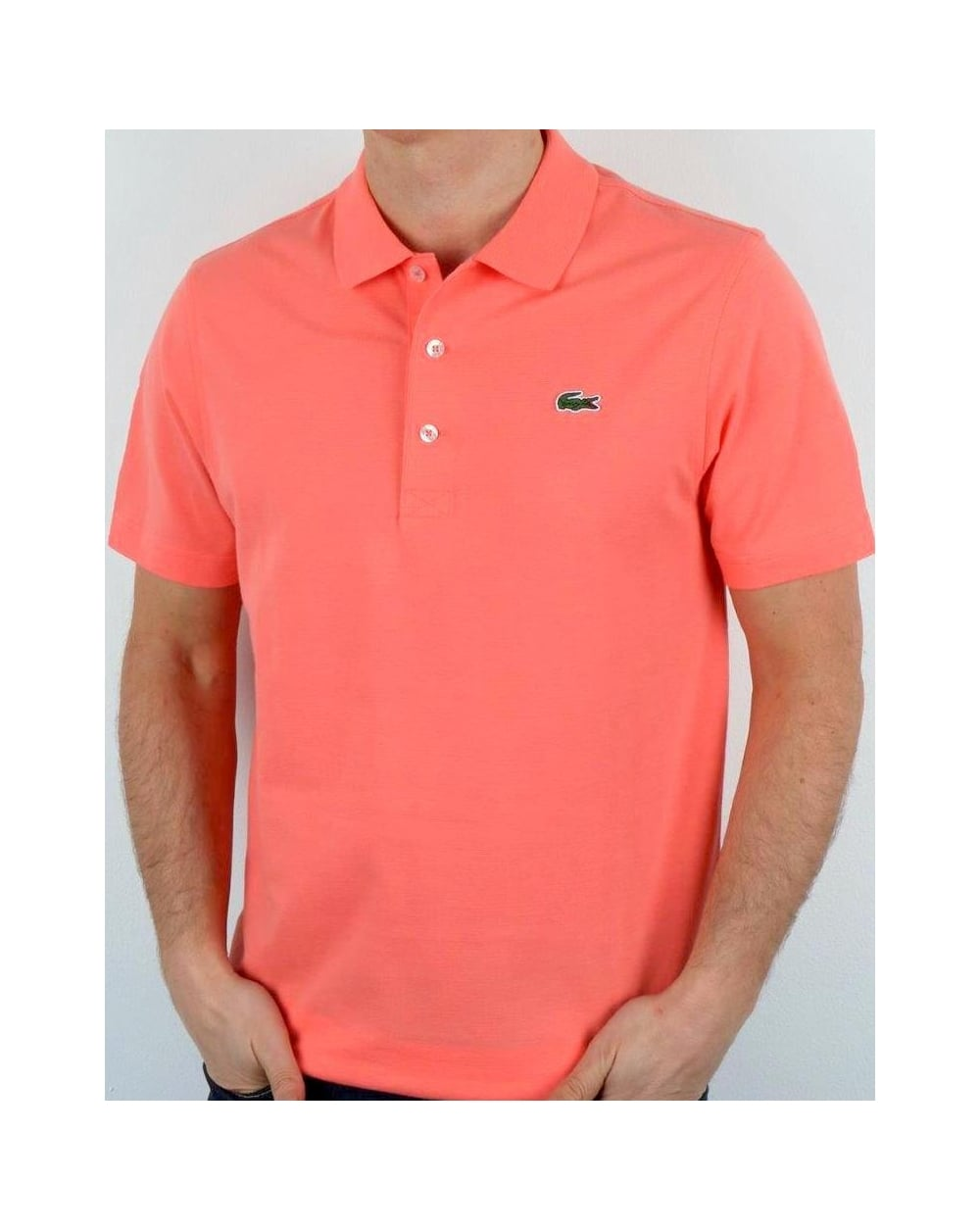 c174b9dcc4f33 Lacoste Ultra-lightweight Knit Polo Shirt Tarama Pink, Men s, Top