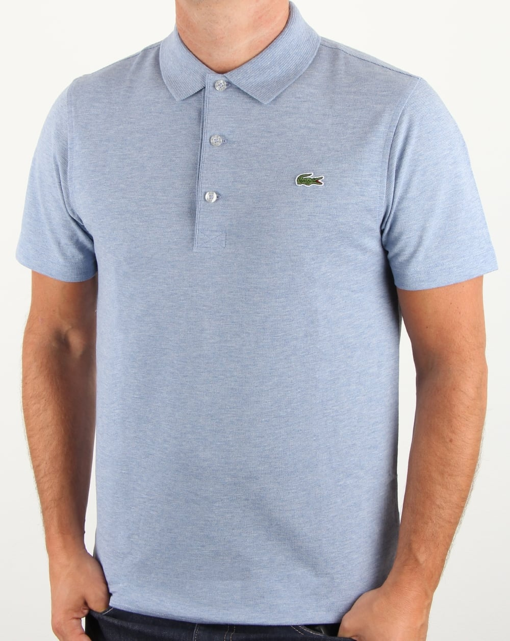 c89dc71d7 Lacoste Ultra-lightweight Knit Polo Shirt Valerian Chine