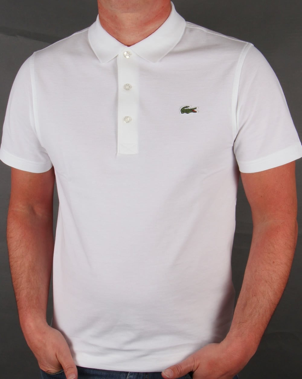 90d567a4f77b Lacoste Ultra-lightweight Knit Polo Shirt White